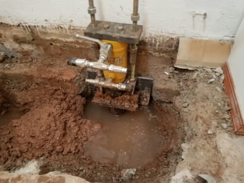 Basement foundation repair in Appleton, WI