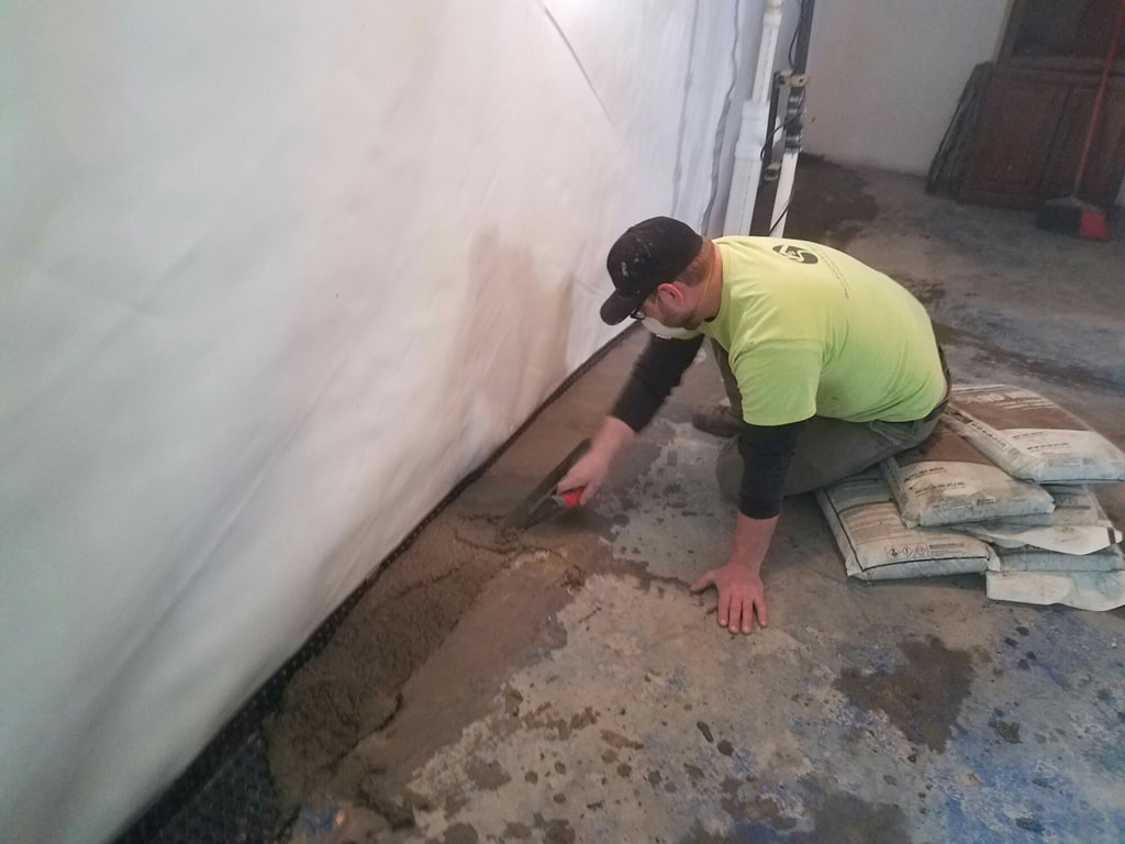 Anchor system foundation repair in Hortonville, Wisconsin