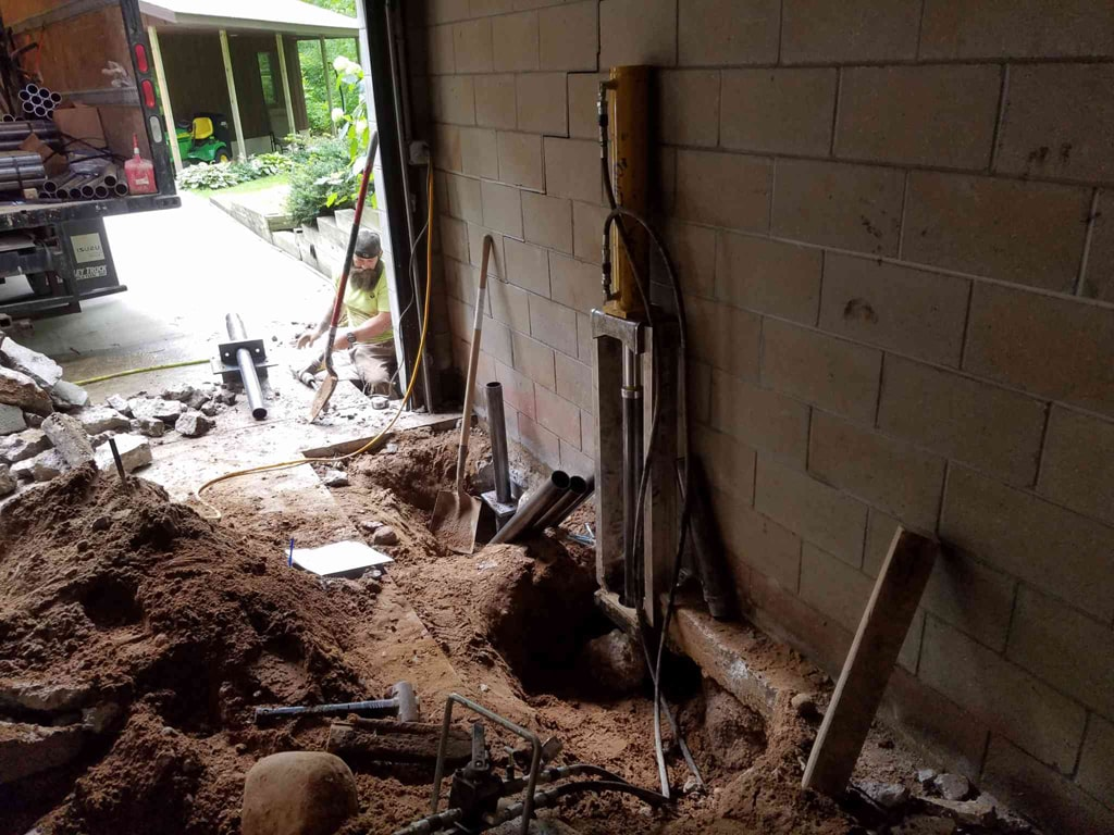 Basement Repair - Pier System near Waupaca, WI